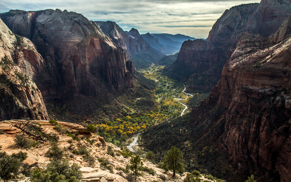 View of Zion Valley from Angel's Landing
