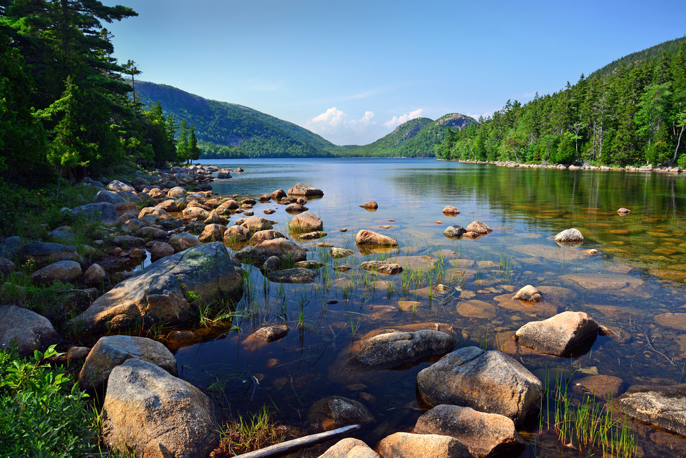 Jordan Pond and Bubbles at Acadia National Park
