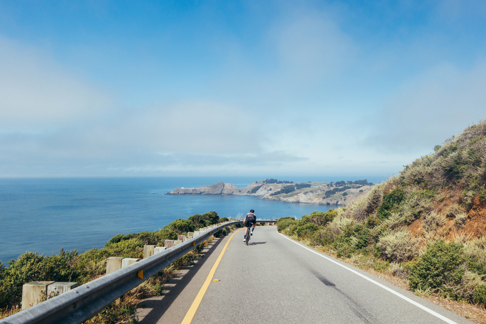 Cycling in Marin County, north of San Francisco
