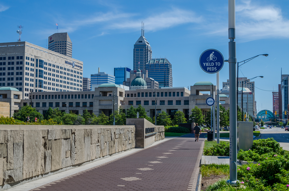 Bike path in Indianapolis, Indiana
