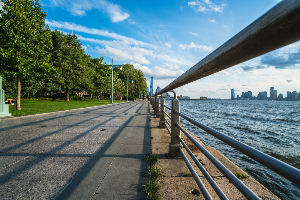Hudson River Park Greenway in NYC