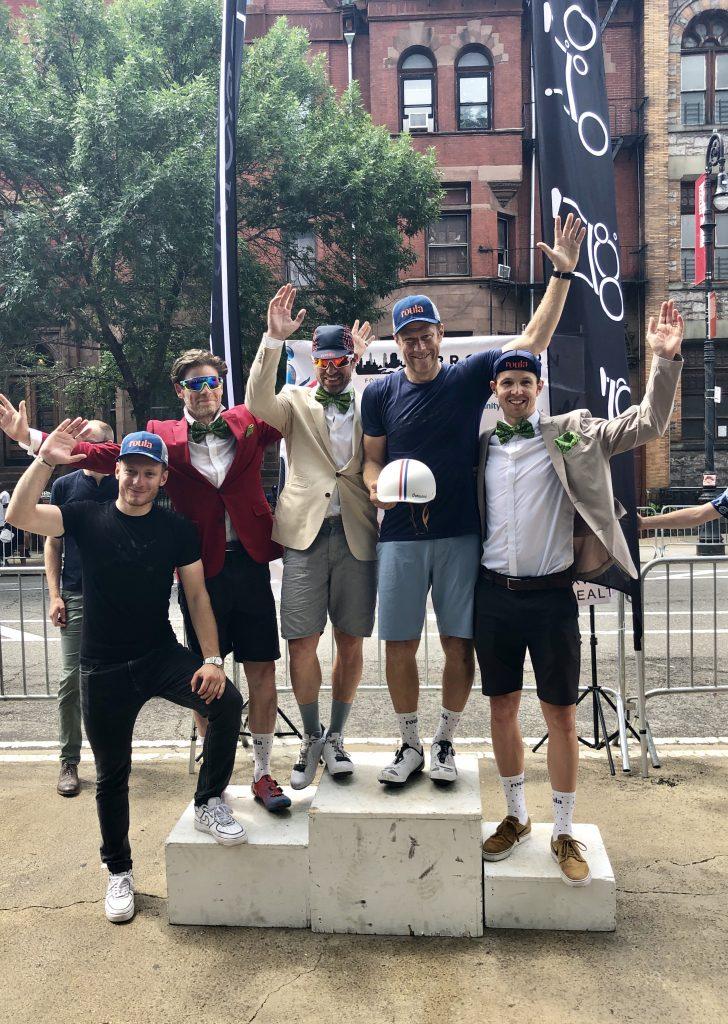 Team Roula podium