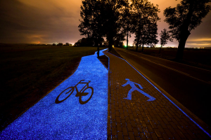 Poland Unveils Glow-In-The-Dark Bicycle Path That Is Charged By The Sun Image